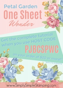 Facebook Live REWIND - if you missed the live event, catch it on a rerun! Petal Garden One Sheet Wonder - www.SimplySimpleStamping.com - look for the September 1, 2017 post