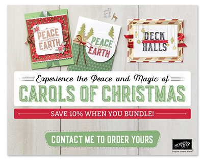 EARLY RELEASE - Carols of Christmas! Get the stamp set OR the bundle and get a jump start on your Christmas cards this year! Order yours at www.SimplySimpleStamping.com