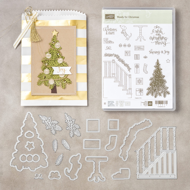 What's New Wednesday - see the READY FOR CHRISTMAS BUNDLE from the 2017-2018 Stampin' Up Holiday Catalog! You can order it NOW at www.SimplySimpleStamping.com - check out blog post September 13, 2017