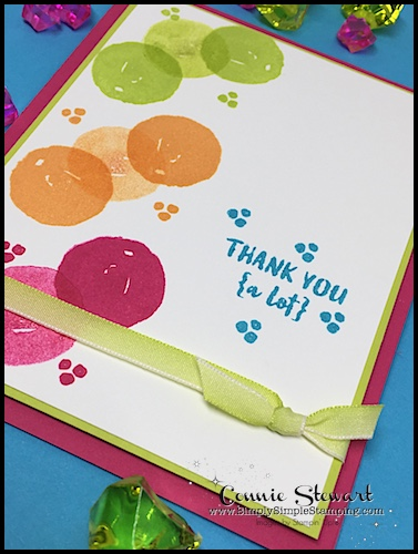 Make It Monday - Create this fun Orange Blossom THANK YOU Card - download the FREE tutorial at www.SimplySimpleStamping.com - look for the October 2, 2017 blog post!