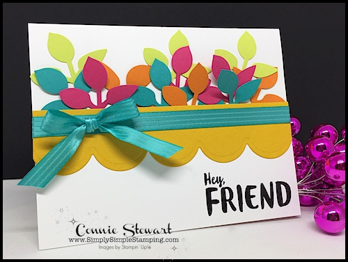 Make It Monday - Create this funky HEY FRIEND card - download the FREE tutorial at www.SimplySimpleStamping.com - look for the September 4, 2017 blog post!