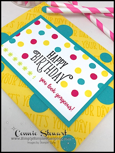 2-Minute Tuesday Tip - Pencil Eraser Stamping - check it out at www.SimplySimpleStamping.com - September 5, 2017