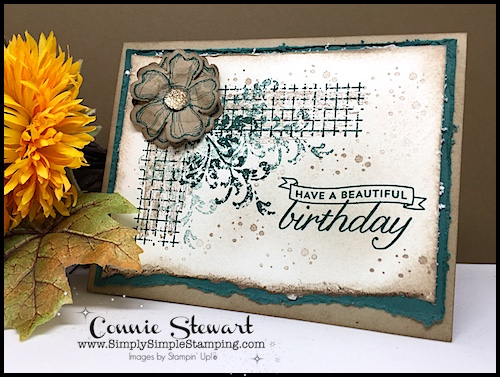 VIDEO - Vintage Birthday and a great distressing trick too - www.SimplySimpleStamping.com - look for the September 8, 2017 post