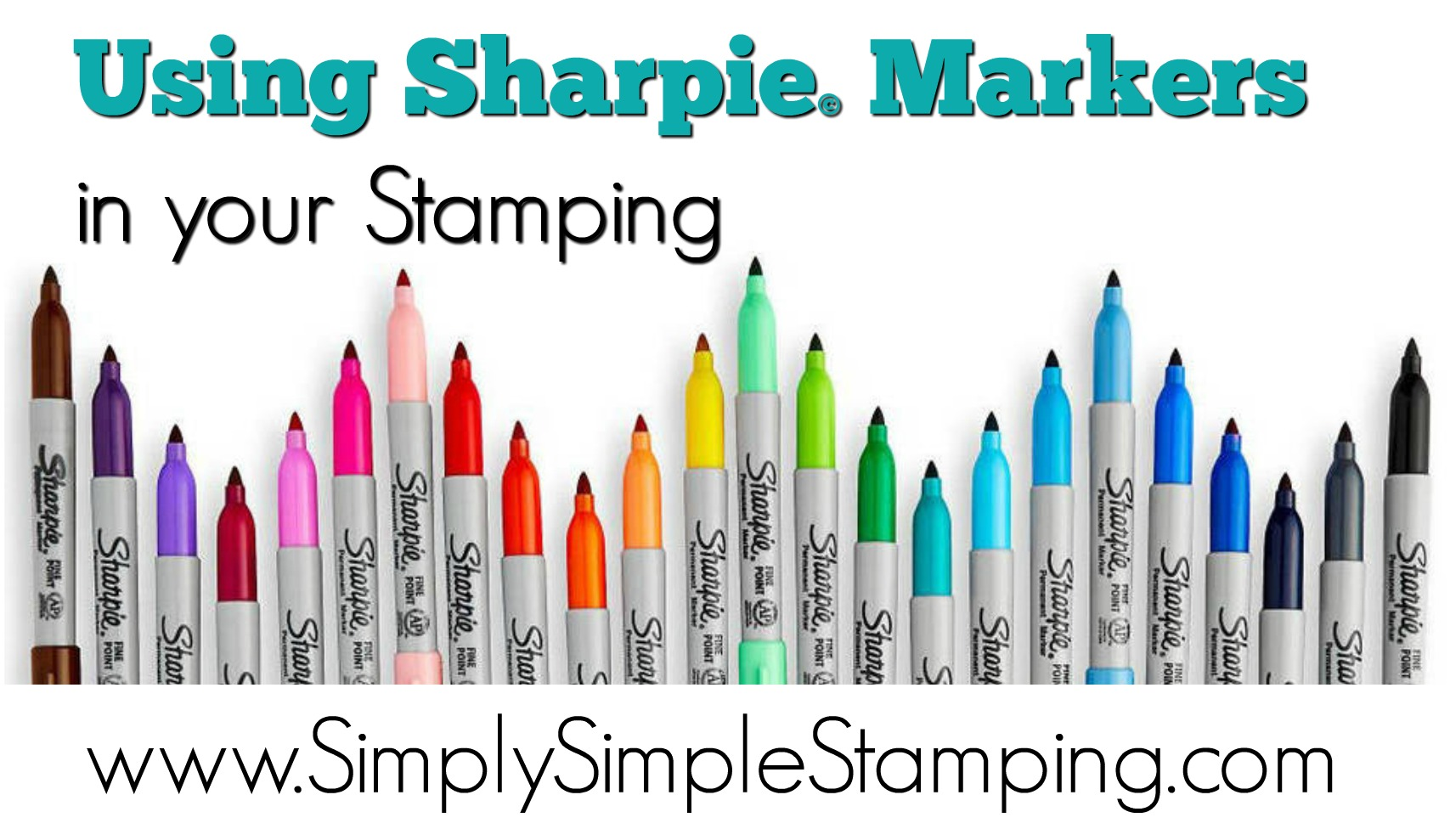 2-Minute Tuesday Tip - Using Sharpie Markers in your Stamping - check it out at www.SimplySimpleStamping.com - September 19, 2017