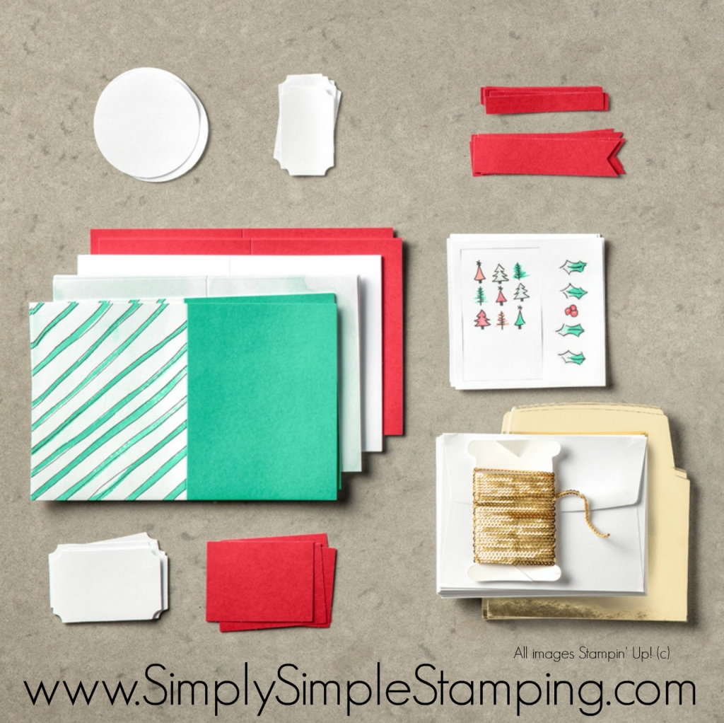 What's New Wednesday - Watercolor Christmas Stamp Set & Card