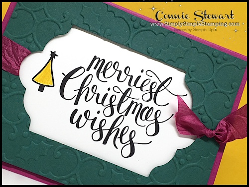 Make It Monday - Create this MERRIEST CHRISTMAS WISHES GIFT CARD HOLDER - download the FREE tutorial at www.SimplySimpleStamping.com - look for the November 13, 2017 blog post!