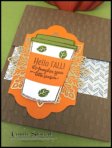 Video Tutorial - Floating Image Pumpkin Spice Latte card - www.SimplySimpleStamping.com - check out blog post October 6, 2017