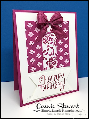 Make It Monday - Create this BIRTHDAY GIFT card - download the FREE tutorial at www.SimplySimpleStamping.com - look for the October 16, 2017 blog post!