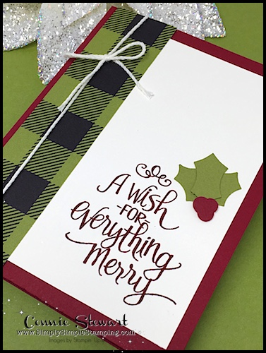 Make It Monday - Create this A WISH FOR EVERYTHING MERRY card - download the FREE tutorial at www.SimplySimpleStamping.com - look for the October 30, 2017 blog post!