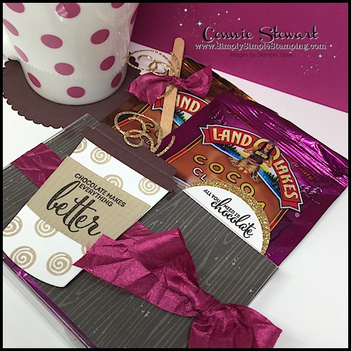 Watch the REWIND video of this week's Facebook LIVE! I will share how to create this Hot Cocoa Gift Box. www.SimplySimpleStamping.com and look for the October 26, 2017 post!