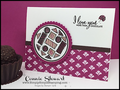 Watch the REWIND video of this week's Facebook LIVE! I will share how to create this I LOVE YOU MORE THAN CHOCOLATE card. www.SimplySimpleStamping.com and look for the October 27, 2017 post!