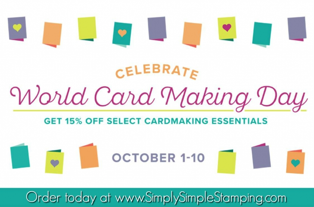 Celebrate World Card Making Day with 15% off selected stamps AND a great deal on Fast Fuse! October 1-10, 2017 at www.SimplySimpleStamping.com!
