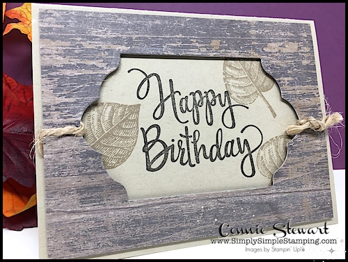 Make It Monday - Create this MASCULINE GIFT CARD HOLDER - download the FREE tutorial at www.SimplySimpleStamping.com - look for the November 6, 2017 blog post!