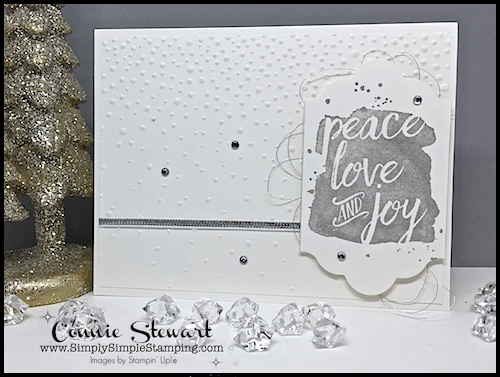 MAKE IT MONDAY – Peace Love and Joy Card