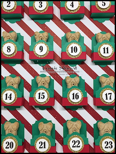 Our furry friends deserve a fun Christmas advent calendar too! Check out this Pet Treat Advent filled with special treats for your fur baby! www.SimplySimpleStamping.com - November 29, 2017