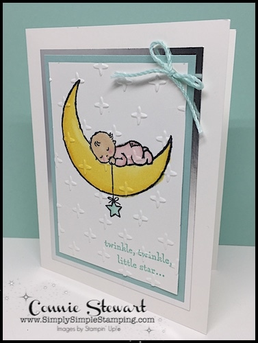 Make It Monday Double Feature - Create either the Twinkle Twinkle Baby card or the Let It Snow card - download the FREE tutorial at www.SimplySimpleStamping.com - look for the December 4, 2017 blog post!