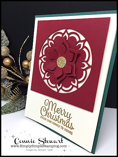 Make It Monday Double Feature - Create either the the Merry Christmas card or the Life is Beautiful card - download the FREE tutorial at www.SimplySimpleStamping.com - look for the December 11, 2017 blog post!