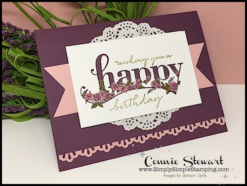 Flash Card Mash Up - I love how this card, created with the Sale-a-Bration stamp set Happy Wishes, turned out. So easy when you start with Flash Cards. See the card and video at www.SimplySimpleStamping.com on January 3, 2018.