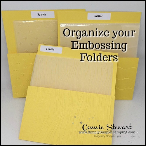 2-Minute Tuesday Tip – Organize Your Embossing Folders