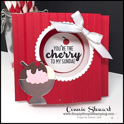 FANCY FOLDS Blog Hop – Cherry Sundae Box Card and Flamingo Box Card