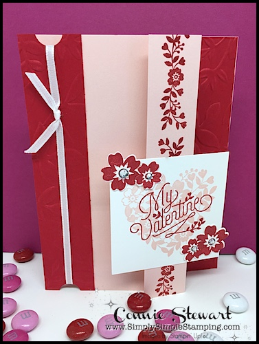 Flash Card Mash Up -What a fun Valentine card with a unique little fold. So easy when you start with Flash Cards. See the card and video at www.SimplySimpleStamping.com on January 24, 2018.