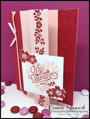 FLASH CARD MASH UP Video – My Valentine Tri-Fold Card