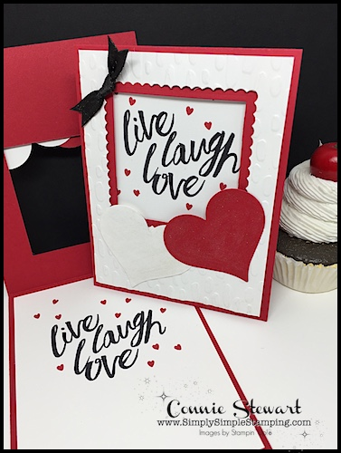 FACEBOOK Live Rewind – Live Laugh Love Window Card