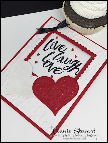 Watch the REWIND video of last week's Facebook LIVE! I will share my Live Laugh Love Window card. It's pretty impressive but super easy to create. Check it out at www.SimplySimpleStamping.com and look for the February 7 2018 post!