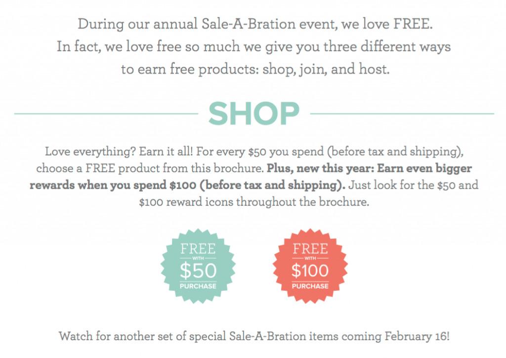 Sale-a-Bration 2018 - through March 31, 2018 - get free stamps and accessories for every $50 you spend! www.SimplySimpleStamping.com