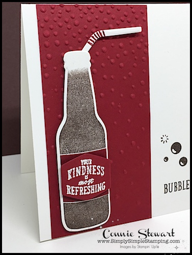 Make It Monday - Dr. Pepper© Kindness card - download the FREE tutorial at www.SimplySimpleStamping.com - look for the February 5, 2018 blog post!