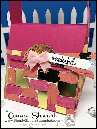 VIDEO Tutorial - One Sheet Wonder Designer Purse - Turn a 12x12 piece of Designer Paper or Cardstock into this adorable designer purse! Written tutorial available too at www.SimplySimpleStamping.com - look for the February 21, 2018 blog post