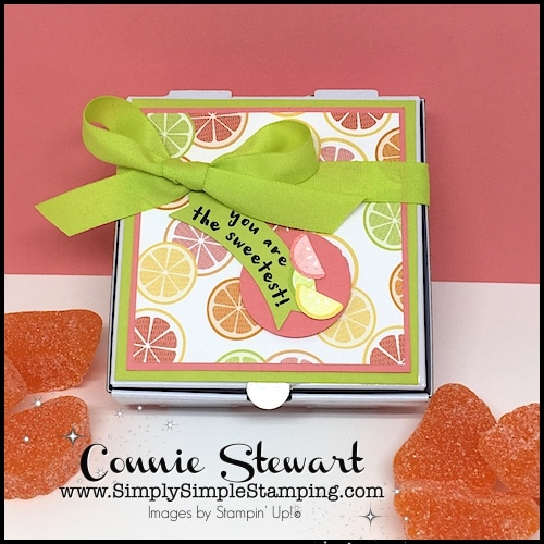 Make It Monday - You're the Sweetest Candy Box - download the FREE tutorial at www.SimplySimpleStamping.com - look for the February 12, 2018 blog post!