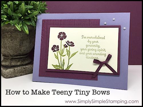 2-Minute Tuesday Tip – Tying Teeny Tiny Bows