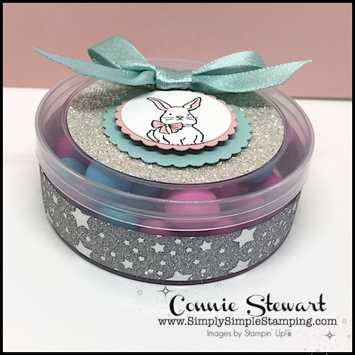 2-Minute Tuesday Tip - UP-CYCLE IT - remove labels from embellishment containers - see the quick 2-Minute video at www.SimplySimpleStamping.com - look for the March 6, 2018 blog post