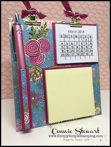 """Facebook Live Rewind - It's another ONE SHEET WONDER project! Learn how to create (4) hanging message centers with just (1) 12"""" x 12"""" piece of Designer Paper. See the video at www.SimplySimpleStamping.com - look for the March 29, 2018 blog post."""