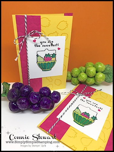 Flash Card Mash Up Video - Fruit Basket Bundle! So easy when you start with your Flash Cards. See the card and video at www.SimplySimpleStamping.com on March 22, 2018.
