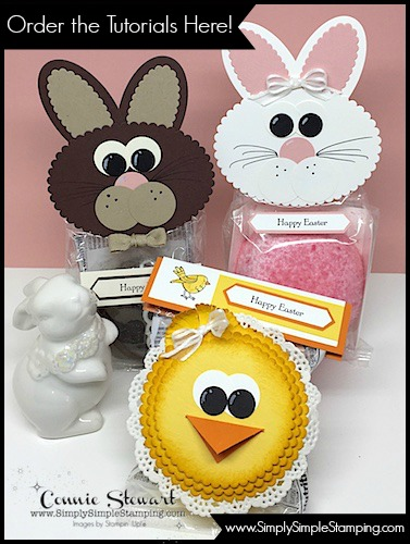 "Order the SNACK CAKE BUNNY & CHICK COLLECTION - a 10-page pdf with detailed instructions for 3 fabulous projects. www.SimplySimpleStamping.com - look in the top menu for ""Let's Get Creative Tutorials""."