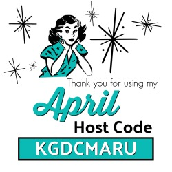 Use the APRIL Host Code KGDCMARU on your order of $30 or more and receive Surprise & Delight in your hand stamped thank you card! www.SimplySimpleStamping.com