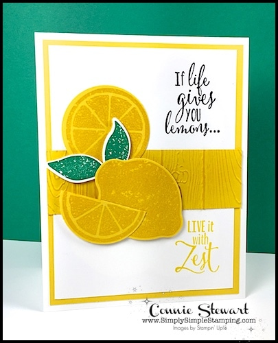 Make It Monday - Live Life with Zest card - download the FREE tutorial at www.SimplySimpleStamping.com - look for the April 9, 2018 blog post!