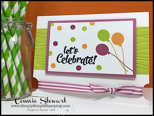 Flash Card Mash Up Video - Let's Celebrate card. It's so easy when you start with Flash Cards. See the card and video at www.SimplySimpleStamping.com on April 25, 2018.