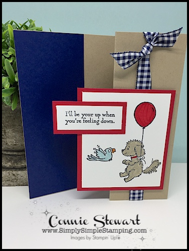 Make It Monday - I'll Be Your Up card - download the FREE tutorial at www.SimplySimpleStamping.com - look for the April 16, 2018 blog post!