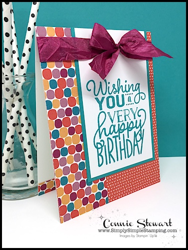 MAKE IT IN MINUTES VIDEO - One Sheet Wonder Birthday Card - see the video and lots of photos at www.SimplySimpleStamping.com - look for the April 19, 2018 blog post
