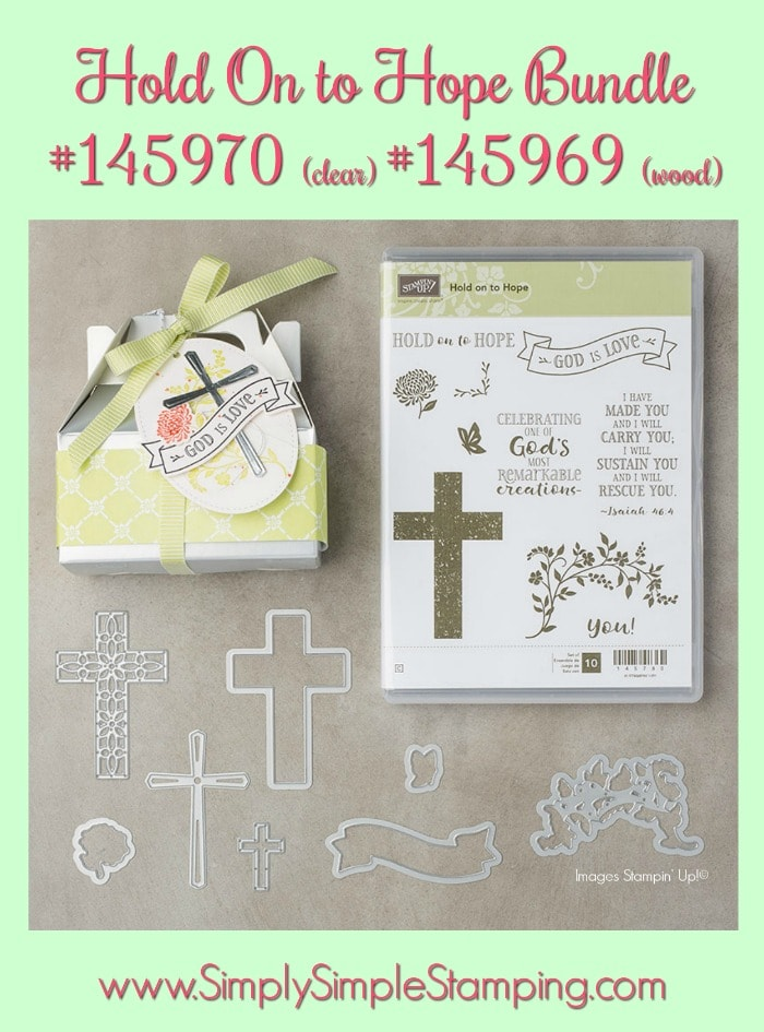 MAKE IT IN MINUTES VIDEO - Hold On to Hope - see the video and lots of photos at www.SimplySimpleStamping.com - look for the April 12, 2018 blog post