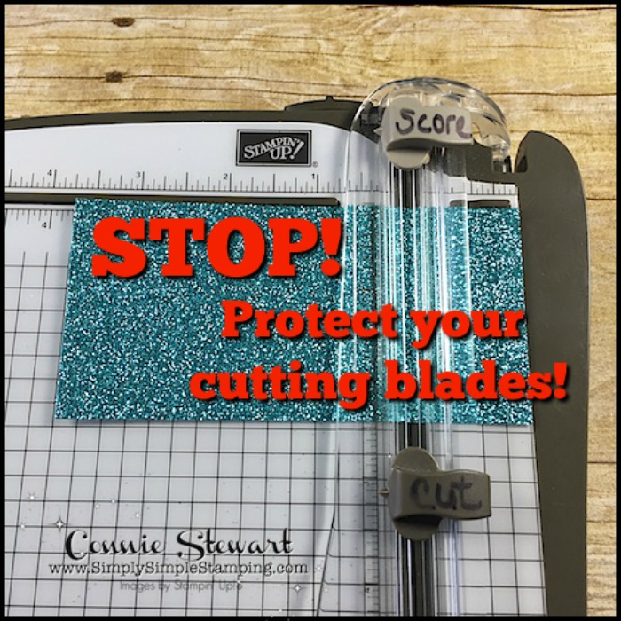 2-Minute Tuesday Tip - Protect the Cutting Blades on your Stampin' Trimmer - see the quick 2-Minute video at www.SimplySimpleStamping.com - look for the May 15, 2018 blog post
