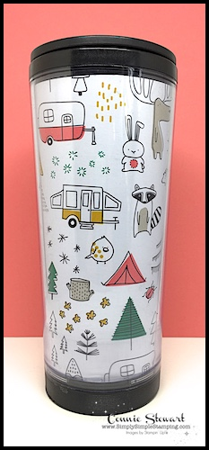 2-Minute Tuesday Tip - Create a Custom Travel Mug - see the quick 2-Minute video at www.SimplySimpleStamping.com - look for the May 1, 2018 blog post