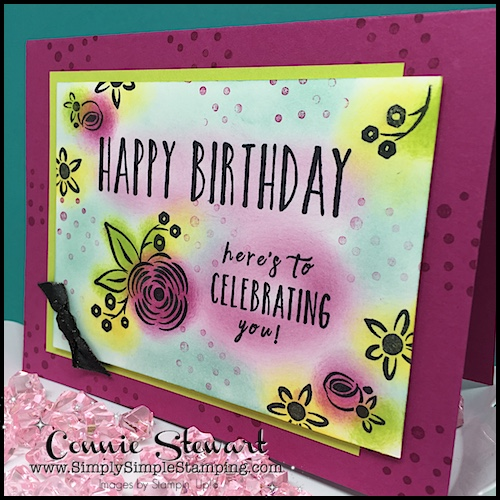 MAKE IT IN MINUTES VIDEO - Happy Birthday Card - see the video and lots of photos at www.SimplySimpleStamping.com - look for the May 9, 2018 blog post