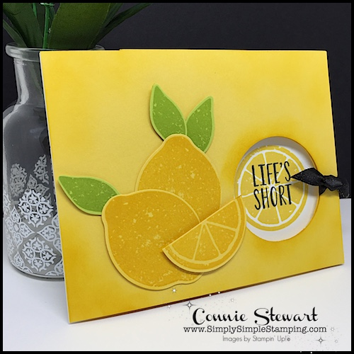 Facebook Live Rewind - check out this video for a fun LEMONY PEEKABOO CARD at www.SimplySimpleStamping.com - May 10, 2018