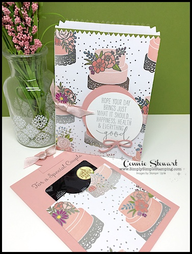 MAKE IT MONDAY FREE TUTORIAL - Wedding Gift Card Holder - download the FREE tutorial at www.SimplySimpleStamping.com - look for the May 7, 2018 blog post!