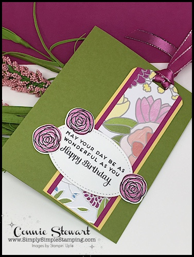 MAKE IT MONDAY FREE TUTORIAL - Birthday Bookmark Card - download the FREE tutorial at www.SimplySimpleStamping.com - look for the May 14, 2018 blog post!