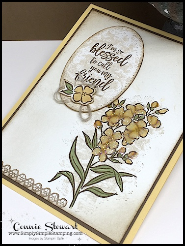 MAKE IT MONDAY FREE TUTORIAL - Blessed Friend Card - download the FREE tutorial at www.SimplySimpleStamping.com - look for the May 28, 2018 blog post!